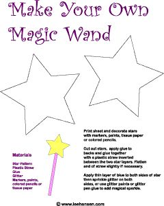 magic wand printable craft