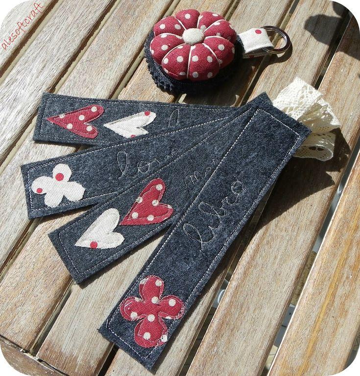 Ale soft craft: segnalibri rossi