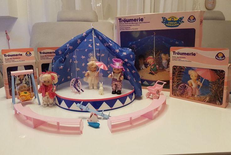 Großes Träumerle Set vintage 80er Jahre Zirkus Sarrasani Puppen Zelt Ratität