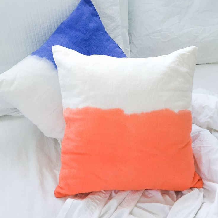 New dip dye cushions / lifestyle products/ interior homewares decor / beach boho summer style / kids / Tevita Clothing and Lifestyle