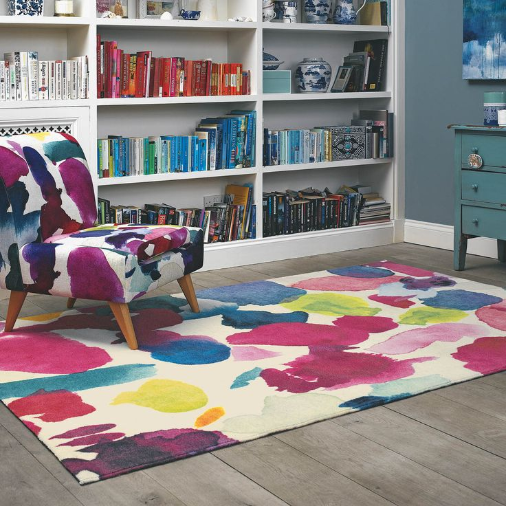 Abstract Rugs were designed by Fiona Douglas based on her beautiful hand drawn watercolour paintings and produced by Brink and Campman. #Home #ModernRug