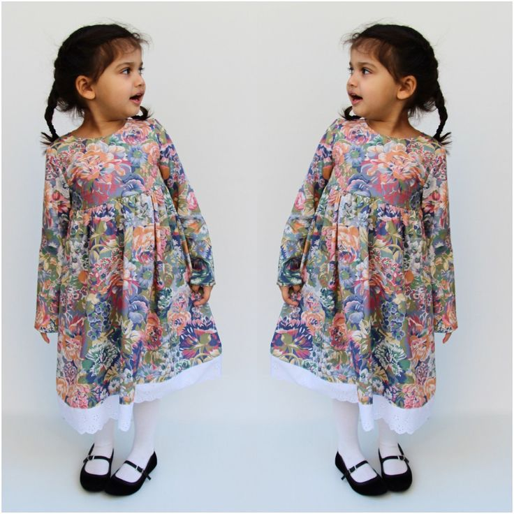 My precious Rose wears the Camille Country Style Dress with floral print and white broderie anglais lace trim. This dress is available in size 4 only. Check previous post for size guide.