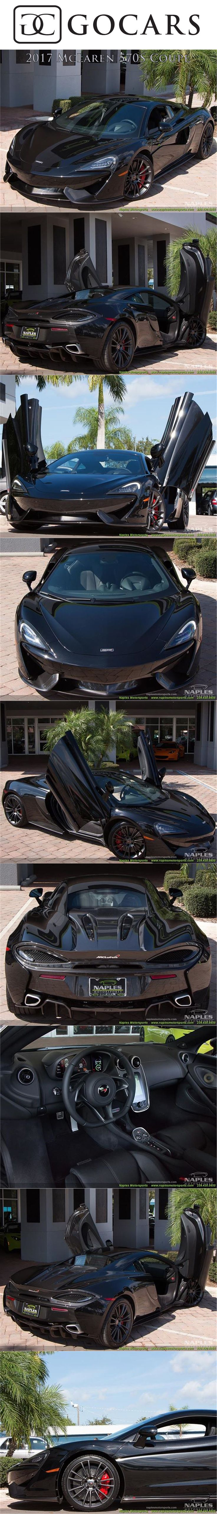 Onyx Black Exterior, Carbon Black Interior, 3.8L Twin Turbo V8, 562 hp, 7 Speed McLaren Dual Clutch Seamless Shift Gearbox (SSG). Only 100 Miles!  #mclaren #mclaren570s #supercar #supercars #sportscar #sportscars #luxurycar #luxurycars #mclarenphotos #gocars