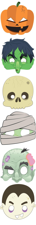 7 Máscaras de Halloween Prontas Para Imprimir