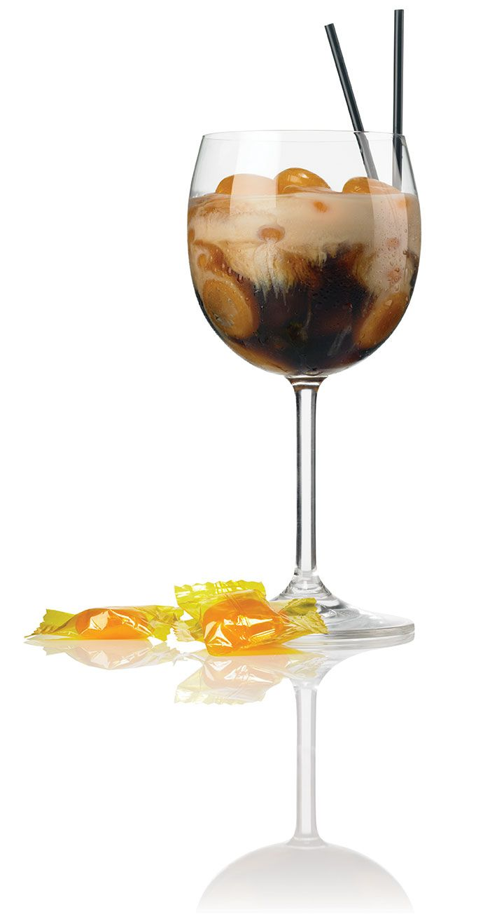 Buttery Twist ~ Patron XO Cafe (new coffee flavored tequila by Patron) Ingredients 1 1/4 oz : Patrón XO Cafe 3/4 oz : Irish Cream splash of butterscotch schnapps butterscotch candy Fill a wine goblet halfway with ice and top with butterscotch candies. Combine all additional ingredients in the glass and serve.