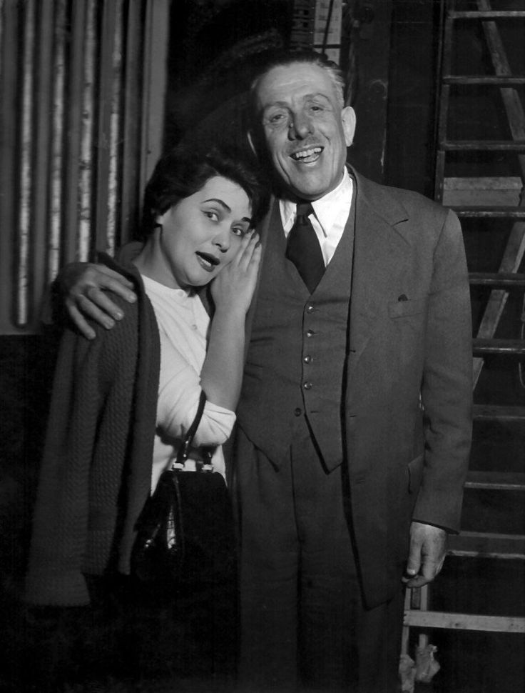 "Interview with Virginia Zeani at 90 ""My brain believes that I'm eternally young"" - Page 2 of 2 - Virginia Zeani with Francis Poulenc during the rehearsals for Dialogues of the Carmelites at La Scala, 1957"