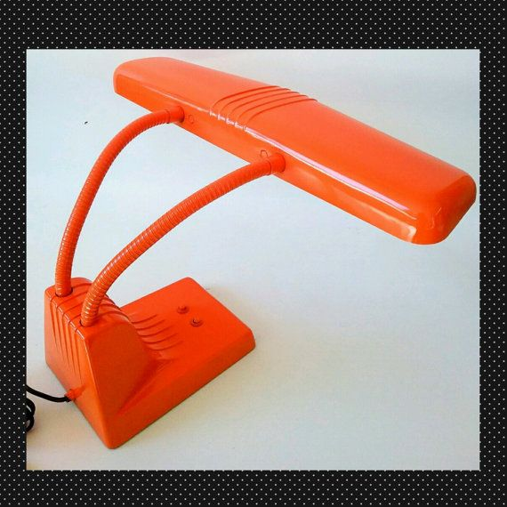 Dazor 1000 Tanker Desk Lamp Light Orange by MakingMidCenturyMod