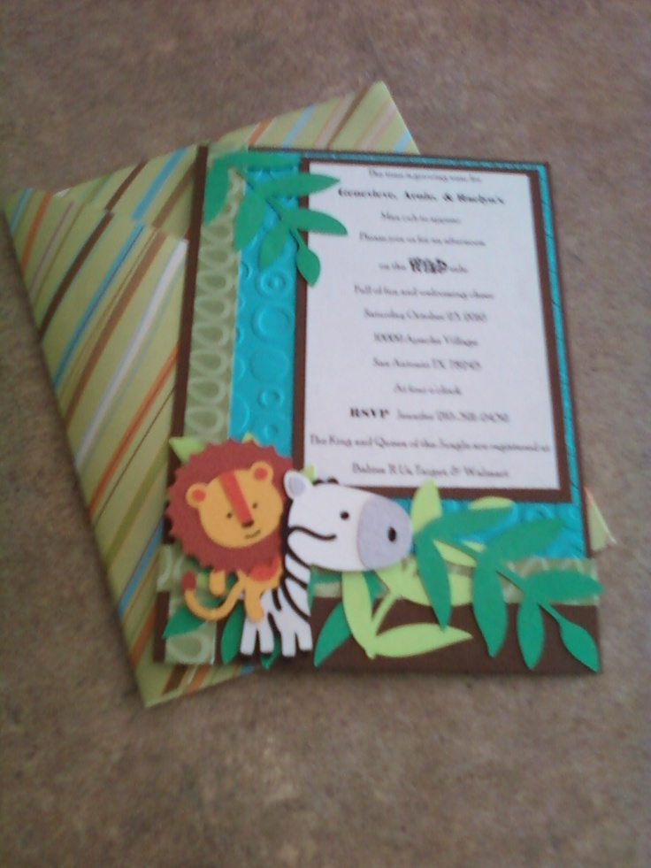 168 best images about baby shower jungle theme on for Themed printer paper