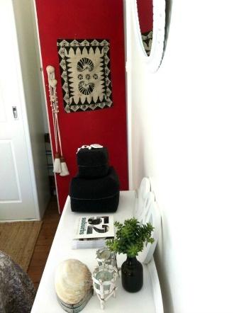 Great decoration idea - paint your bedroom door a vibrant colour.