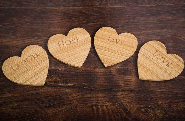 4 #oak #coasters #wood
