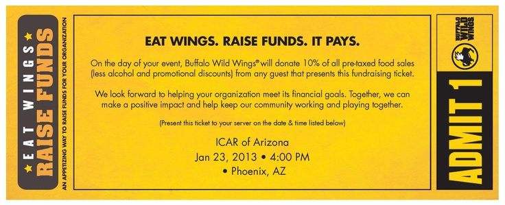 On Jan. 23, EVIT Collision Repair invites you to the Arizona I-CAR Fundraiser being hosted at the 6 valley Buffalo Wild Wings locations starting at 4 p.m.     Print the coupon and share with your friends and family. The money raised will help support programs like EVIT Collision Repair and other programs. We look forward to seeing you.