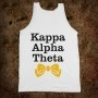 Kappa Alpha Theta Frat Tanks - Kappa Alpha Theta Bows Frat Tanks - Frat Tanks - Skreened T-shirts, Organic Shirts, Hoodies, Kids Tees, Baby One-Pieces and Tote Bags Custom T-Shirts, Organic Shirts, Hoodies, Novelty Gifts, Kids Apparel, Baby One-Pieces | Skreened - Ethical Custom Apparel