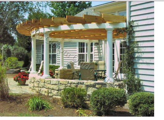 Perfect Patio Projects For Fall Half Circle Pergola