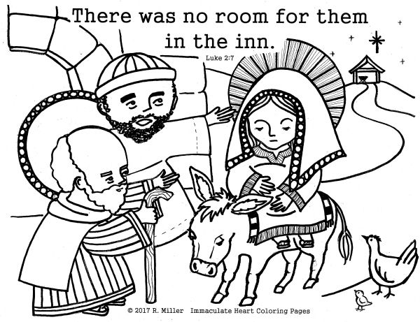 There Was No Room At The Inn Christmas Coloring Page Christian Sheets