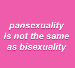 Pan means loving all genders and sexualities while bi means loving both men and women