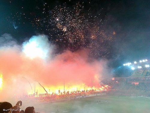 entrance to stadium Aris Thessaloniki - Club Atlético Peñarol - C.A. Peñarol