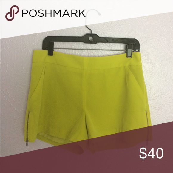 Citron shorts Cute, NWOT citron shorts from The Limited's Forenza collection. Zippers on the side of each, float material. Shorts
