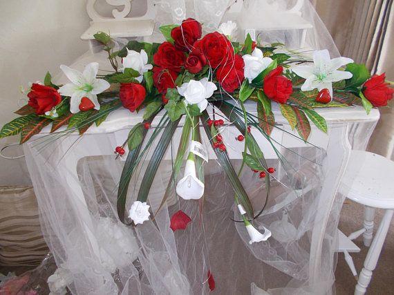 Centre De Table Mariage Fleurs Rouges Gerbe Fleurs Rouges Centre