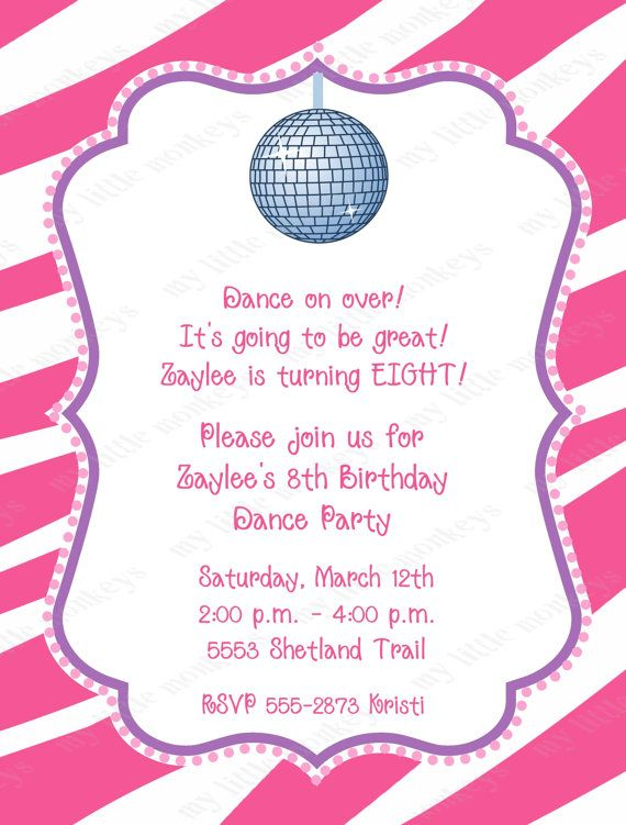 11 best frankie's dance party images on pinterest | birthday party, Party invitations