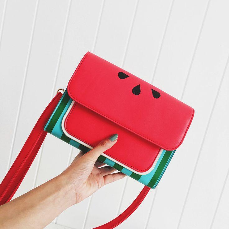 Summer Watermelon Women Flap Leather Handbags Crossbody Shoulder Casual Bag Floral Pattern Panelled Women-bag Leather Bags Women