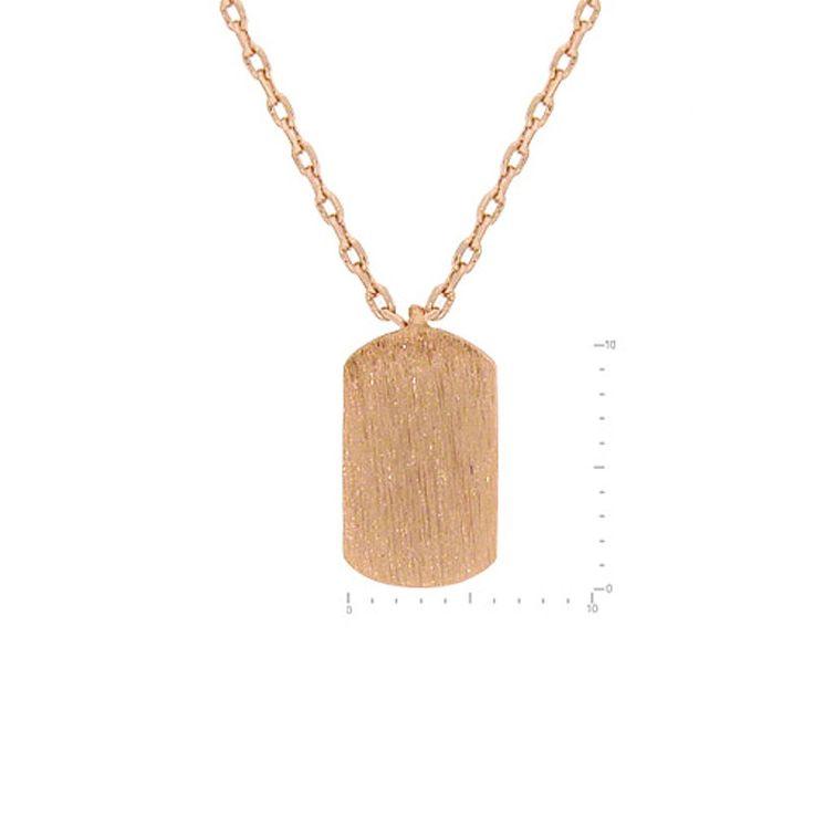 Dog Tag Pendant Brass Necklace