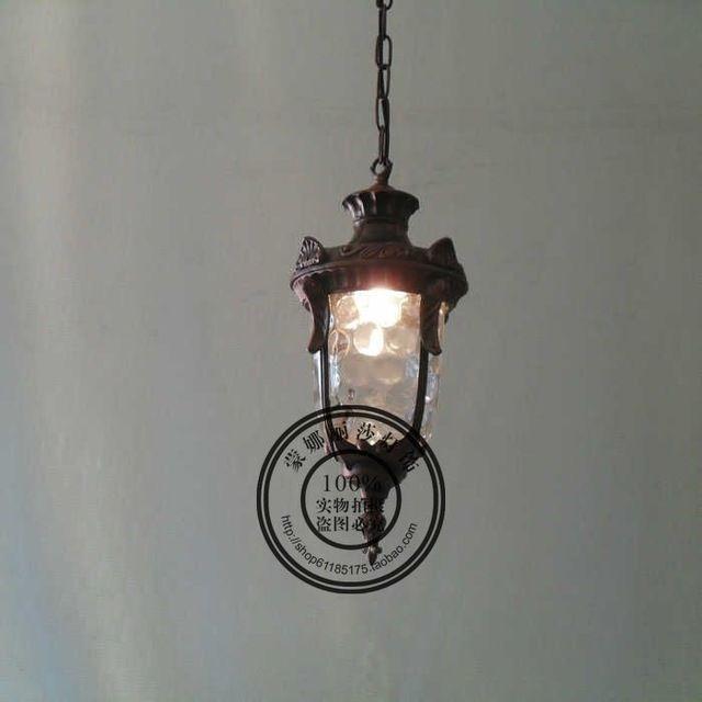 Europese eenvoudige retro ijzeren trap gangpad lamp outdoor waterdichte kleine kroonluchter nieuwe Chinese creatieve persoonlijkheid