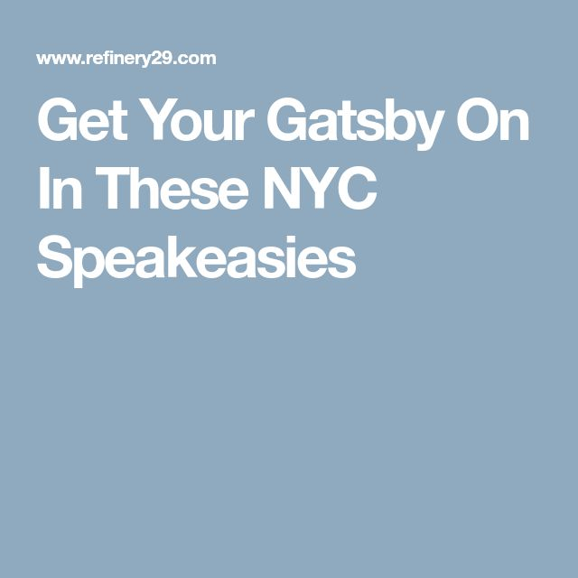 Get Your Gatsby On In These NYC Speakeasies
