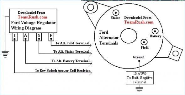 1965 mustang alternator wiring diagram  alternator voltage