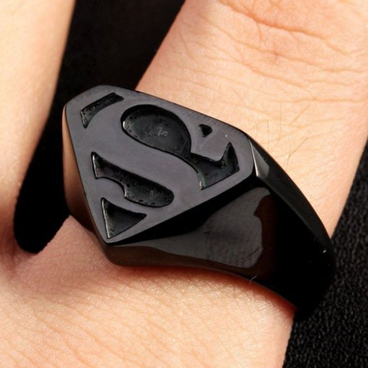 Wholesale Gold plated Mens Fashion Cool Punk Motor Biker Superman Rings,Stainless steel Batman Band Ring,Christmas party gift //Price: $10.62 & FREE Shipping //     #hashtag3