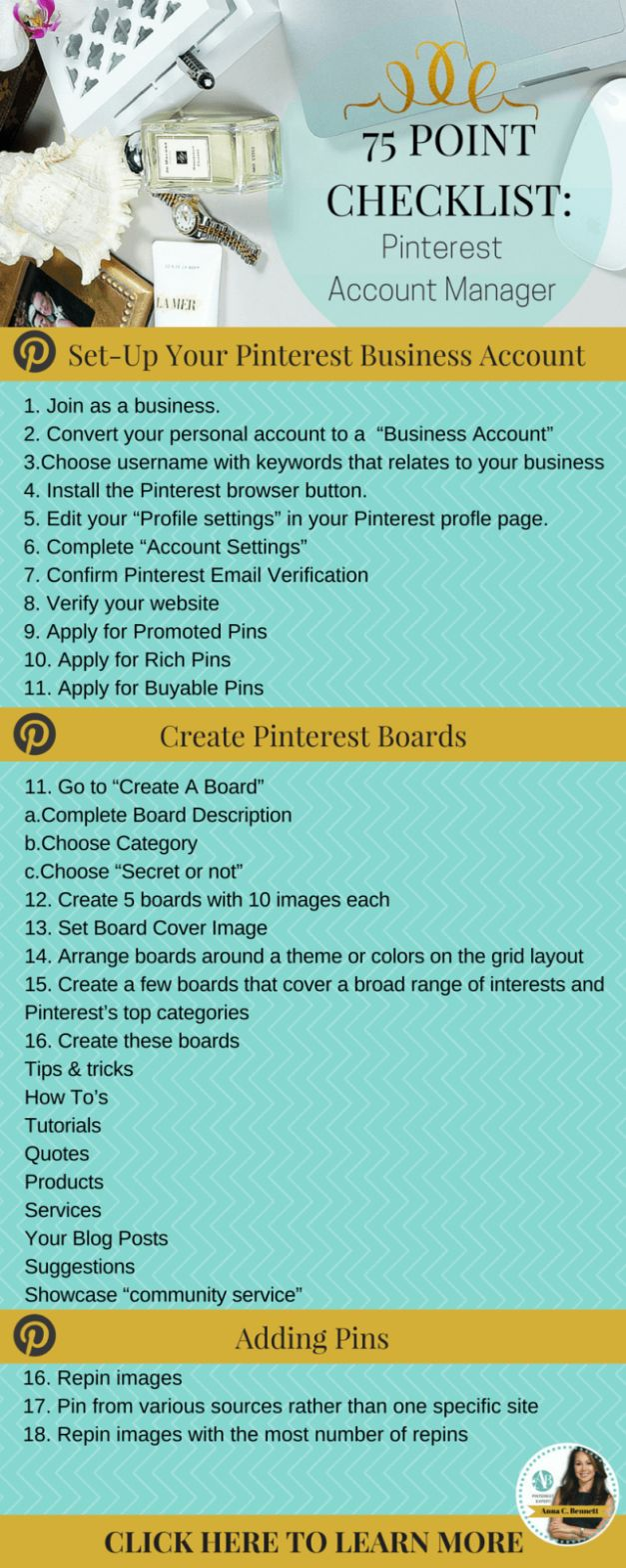 Pinterest isn't just a tool to post pretty photos and interesting quotes - there is a lot of tips and tricks behind it to create it to be a very useful tool!