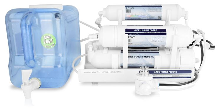 APEX Countertop Alkaline Reverse Osmosis Water Filter with Tank (CT-1021)