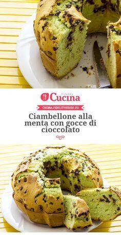 Ciambellone alla #menta con gocce di #cioccolato