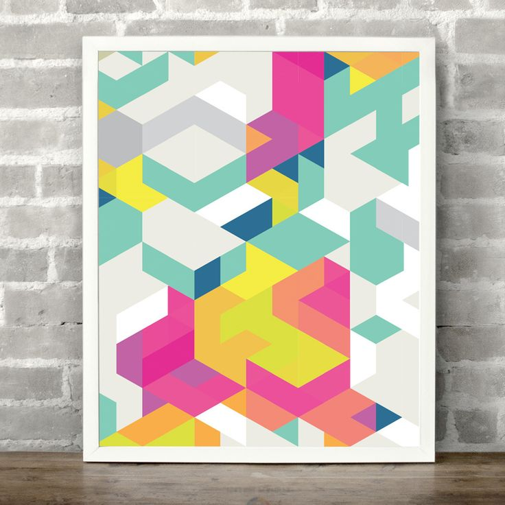 This abstract colourful print would brighten up anyone's day! It works for a little-un's nursery or kids room, as well as any wall in your home that needs a colour pop!    Professionally printed on a high quality textured 216gsm felt white paper stock.    FREE POSTAGE WITHIN AUSTRALIA.    Other sizes are available contact us for a quote.    Print only. Frame not included. Please contact me if you require a framing quote.