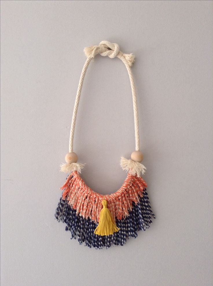 Tassel fringe necklace Ouch Flower