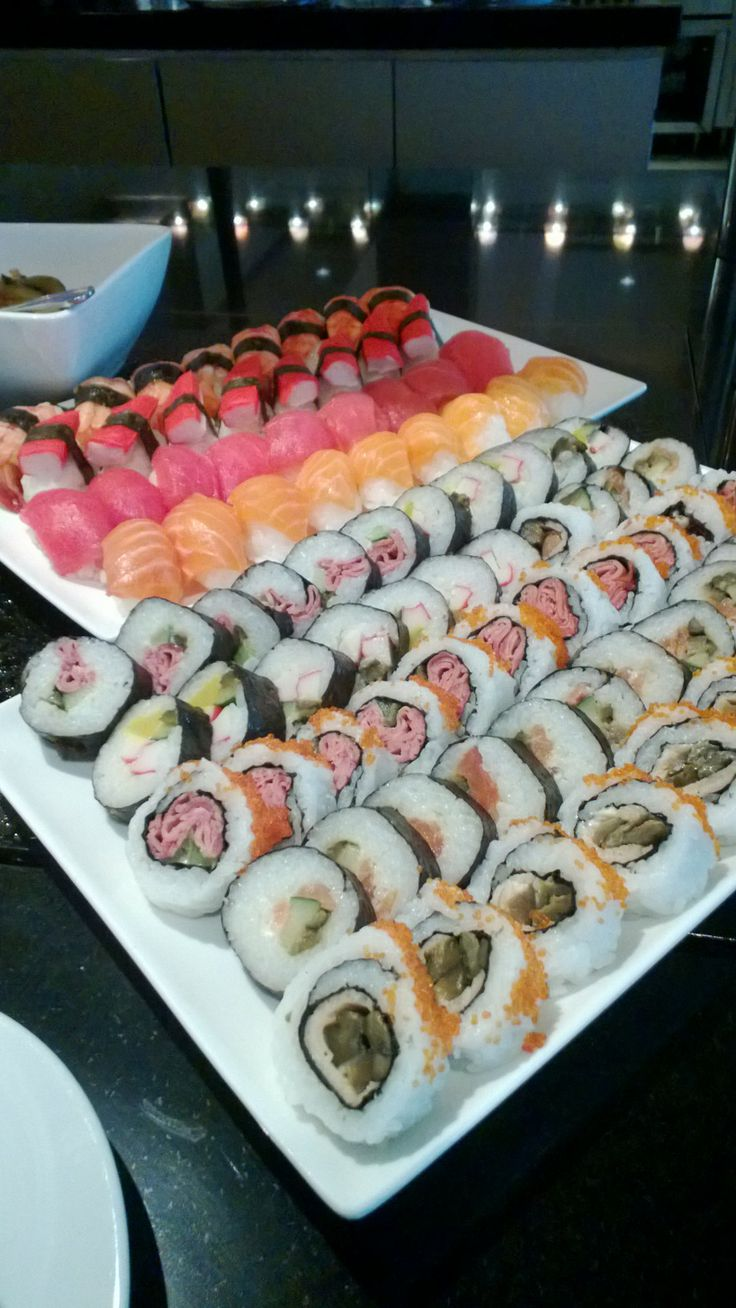 Sushi platter. Yum!