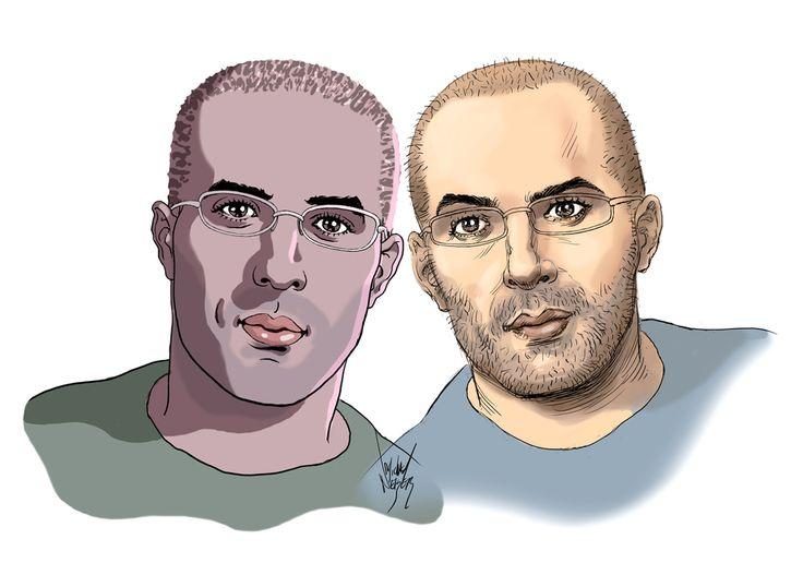 01 - Selfportrait of Asaf and Tomer  HANUKA