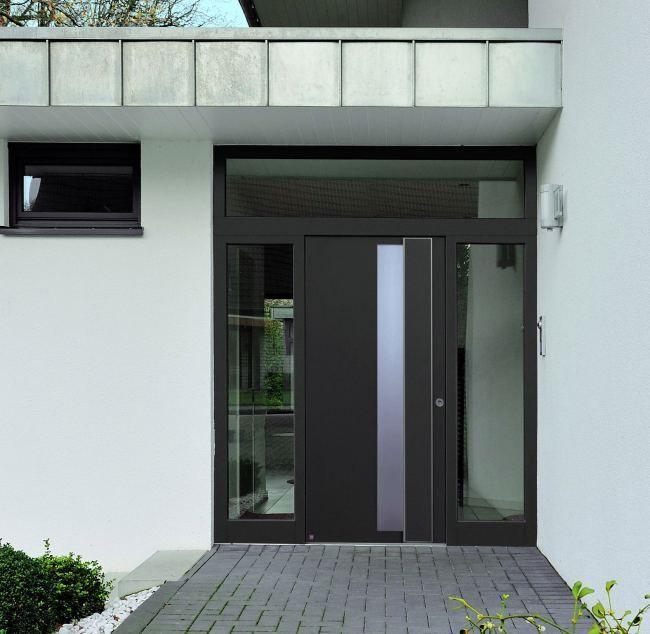 puertas de entrada de aluminio con diseos a la carta