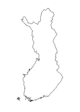 Finland-outline-map-credit-Matt-Rosenberg-About.com-geography