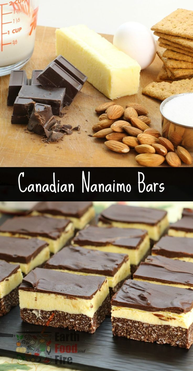 Learn how to make this Canadian treat at home. Nanaimo Bars are a wonderfully rich and creamy treat during the holidays. via @earthfoodfire