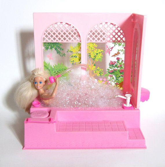Barbie Bubble Bath Tub Vintage 1981 Pink by BrownEyedRoseVintage, $50.00