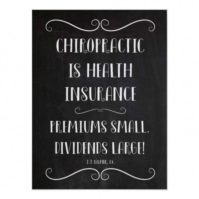 Chiropractic Is Health Insurance 18x24 Poster Zazzle Com