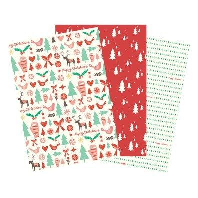 Christmas Wrapping 3pk $14.95 - Those thoughtful gifts are just waiting to be turned into a collection of beautiful art ready to be discovered by eager and excited loved ones.