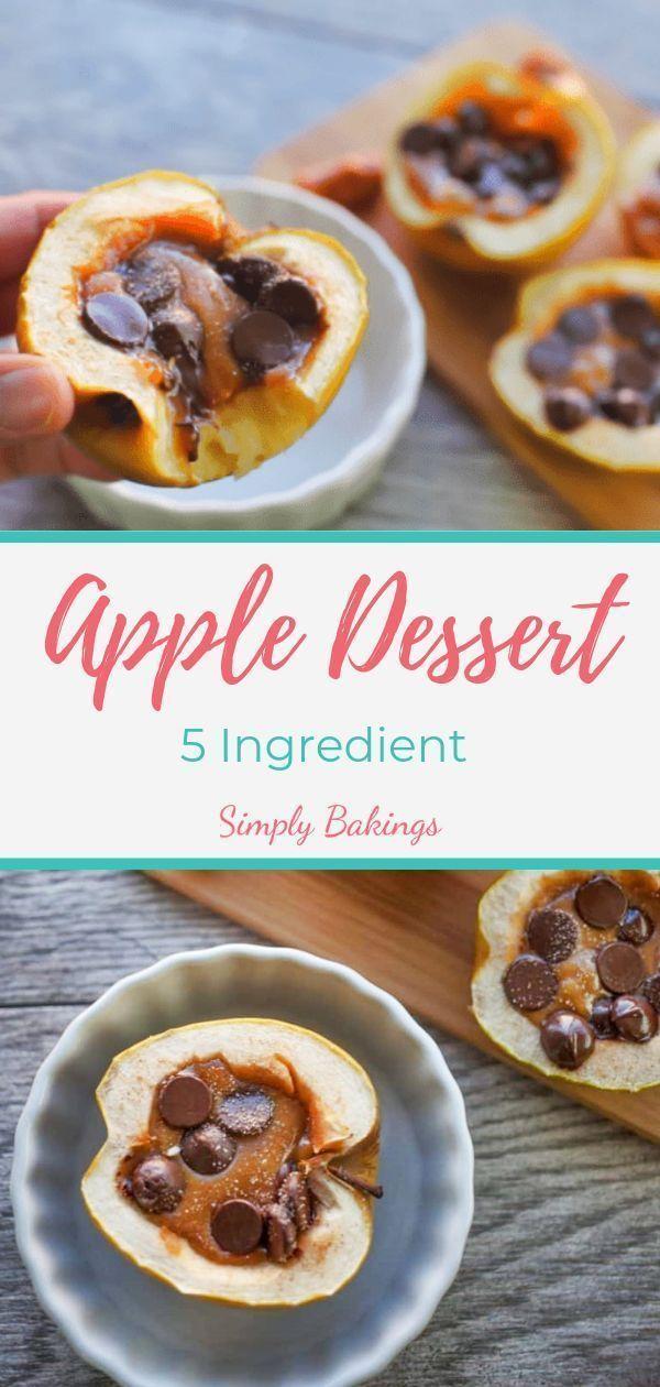 5 Ingredient Apple Dessert Recipe Apple Recipes Fall Dessert