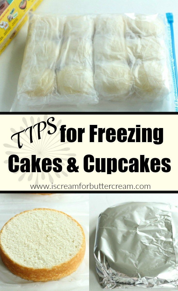 Tips for freezing cakes and cupcakes