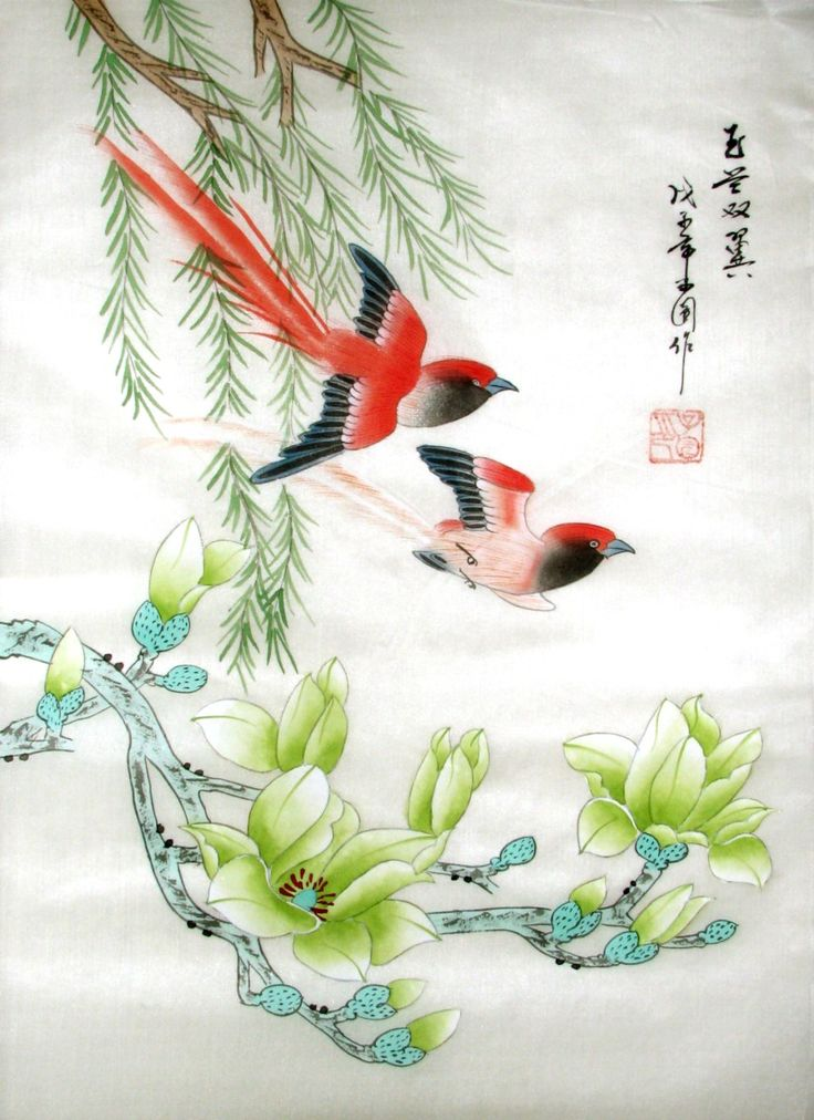 Chinese Artwork | ... chinese silk painting is a model of ...