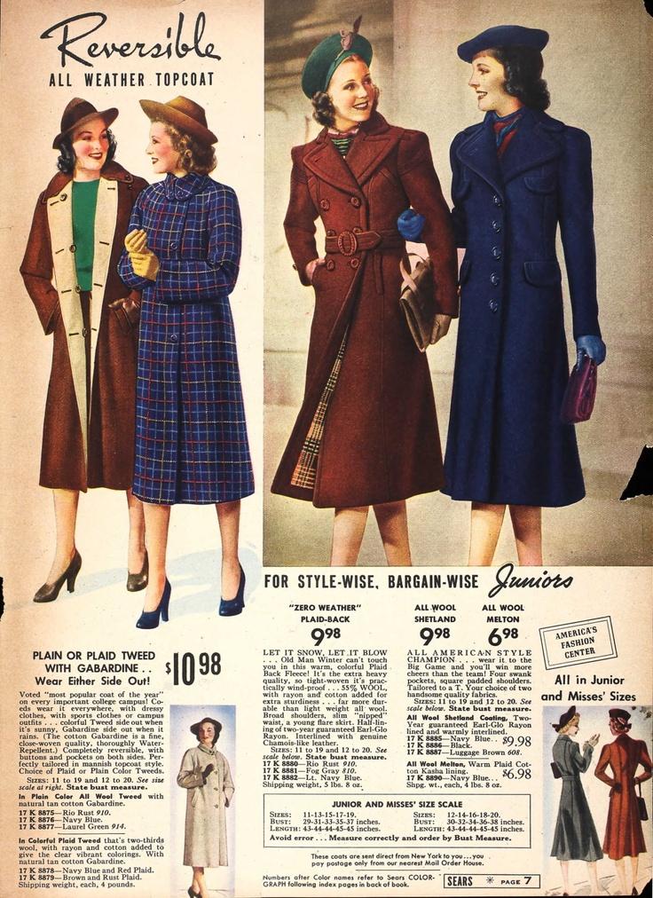 Vintage coats, 1938?