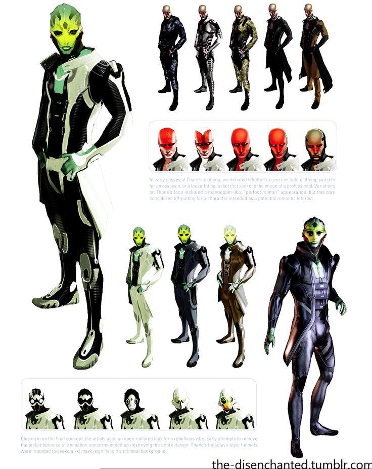 Gamekyo : [Mass Effect] Concept Arts des personnages et races