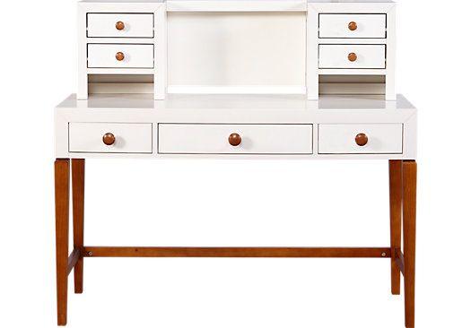 picture of Gio Cream Desk & Hutch from Desks Furniture