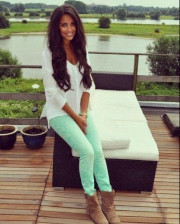17 best images about Mint green pant outfits on Pinterest | Mint ...