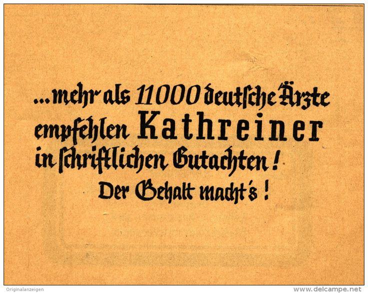 Original-Werbung/Inserat/ Anzeige 1930 - KATHREINER MALZKAFFEE - ca. 140 x 110 mm
